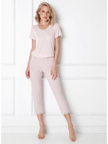 Dámské pyžamo Aruelle Nancy Long kr/r