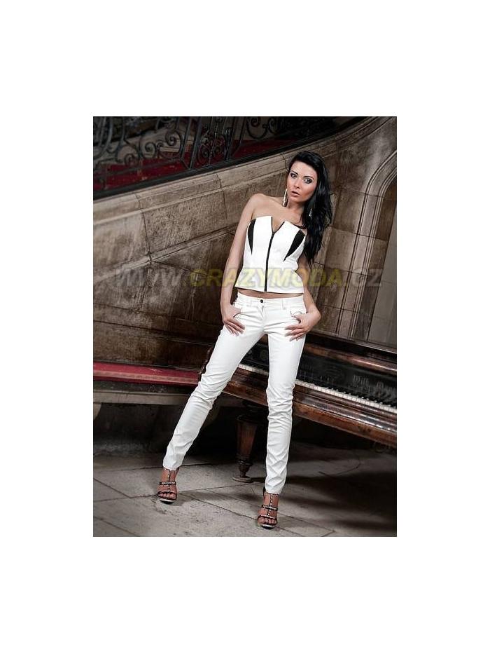 sleva Kalhoty Victoria bílé Ambergraff