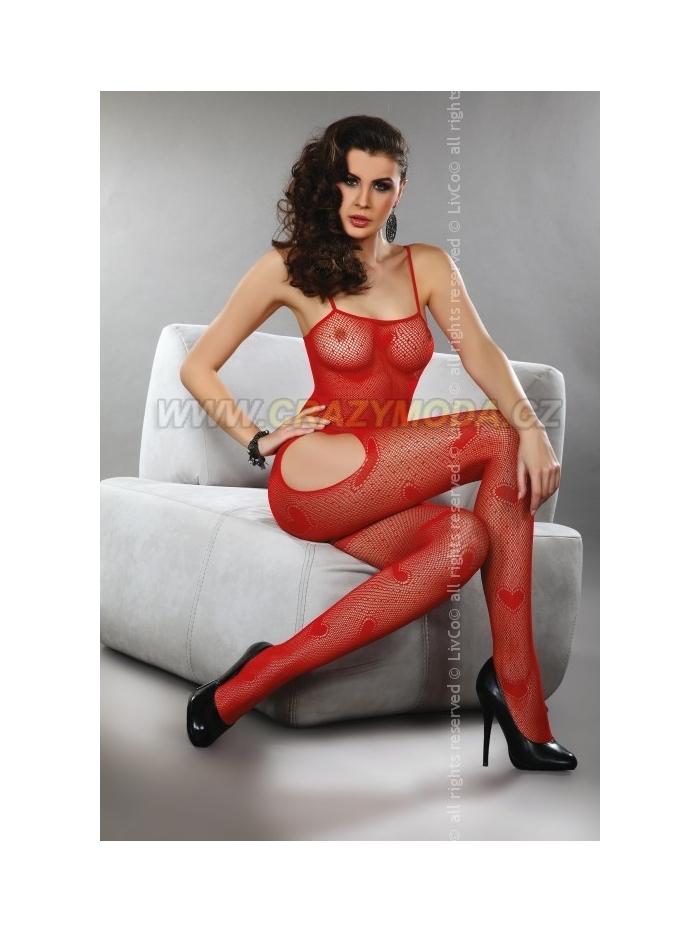 Body Livia Corsetti Titania červená