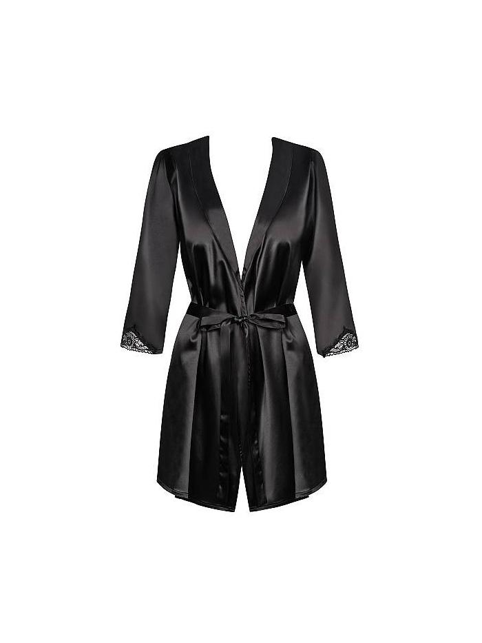 Župan Obsessive Obsessive Satinia robe black