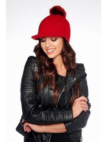 Dámská čepice z kšiltem Lemoniade LGK100 červená