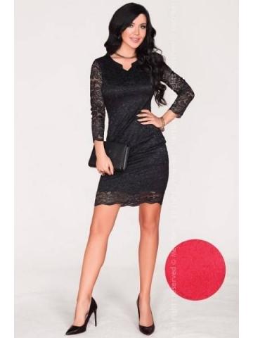 Dámské šaty Merribel 10391D červená