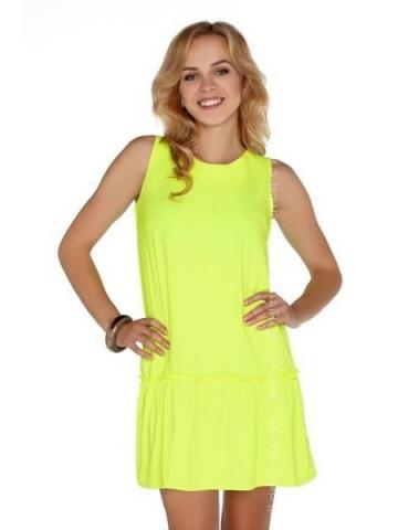 Dámské šaty Merribel Nixolna Neon žluté
