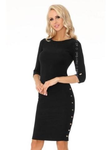 Dámské šaty Merribel Aeroma 85200 černá